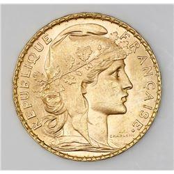 France (Paris mint), 20 francs, 1904-A.