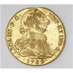 Madrid, Spain, bust 4 escudos, Charles III, 1782JD.
