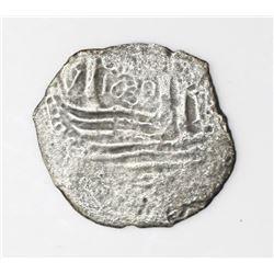 Lima, Peru, cob 1 real, 1659V,  Star of Lima  type.