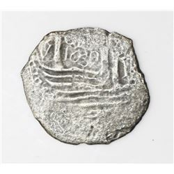 "Lima, Peru, cob 1 real, 1659V, ""Star of Lima"" type."