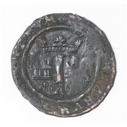 "Mexico City, Mexico, copper 4 maravedis, Charles-Joanna, ""Late Series,"" no assayer (assayer-G period"