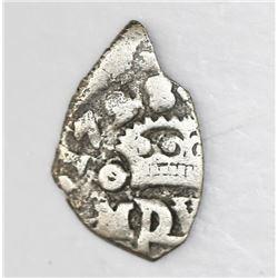Mexico City, Mexico, cob 1/2 real, 1728(D), rare.