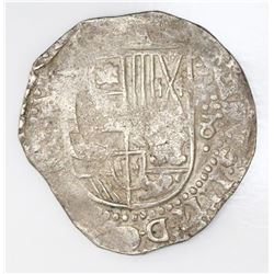 Potosi, Bolivia, cob 8 reales, Philip IV, assayer not visible (style of 1630s assayer T).