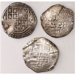 Lot of five Potosi, Bolivia, cob 8 reales, Philip IV, assayers not visible (1630s-40s), all with cho