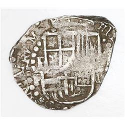 Potosi, Bolivia, cob 2 reales, Philip IV, assayer P.