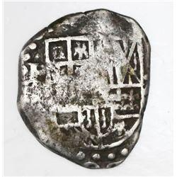Potosi, Bolivia, cob 2 reales, 1626(?), assayer not visible (T or P), rare.