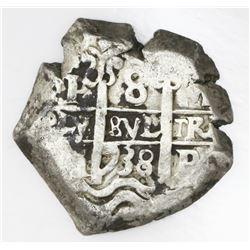 Potosi, Bolivia, cob 8 reales, 1738M.
