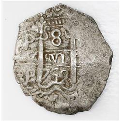 Potosi, Bolivia, cob 8 reales, 1742P.