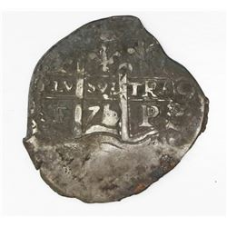 Potosi, Bolivia, cob 2 reales, 1671/0E.