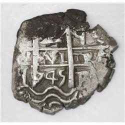 Potosi, Bolivia, cob 2 reales, 1745q.