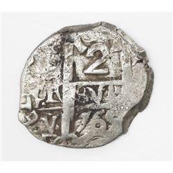 Potosi, Bolivia, cob 2 reales, 1765V-Y.