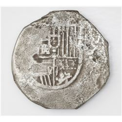 Seville, Spain, cob 8 reales, Philip III, assayer not visible.