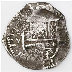 Seville, Spain, cob 4 reales, (1)614V.