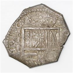 Toledo, Spain, cob 4 reales, Philip III, assayer P.