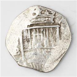 Seville, Spain, cob 2 reales, 1607B.