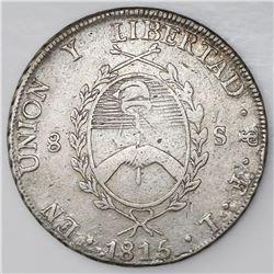 Argentina (River Plate Provinces), 8 soles, 1815FL, Potosi mint.