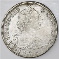 Potosi, Bolivia, bust 8 reales, Charles III, 1776JR.