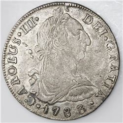 Potosi, Bolivia, bust 8 reales, Charles III, 1783/2PR.