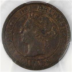 Canada, copper 1 cent, Victoria, 1884, PCGS MS63BN.