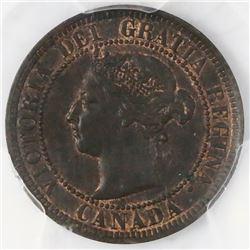 Canada, copper 1 cent, Victoria, 1886, PCGS MS62BN.
