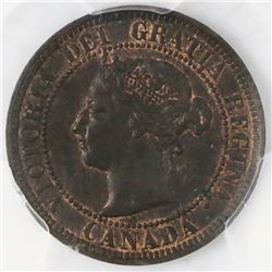 Canada, copper 1 cent, Victoria, 1886, PCGS MS62BN.