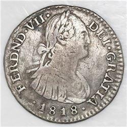 Bogota, Colombia, 1 real, Ferdinand VII (bust of Charles IV), 1818FJ.