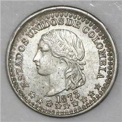 Bogota, Colombia, 5 centavos, 1873.