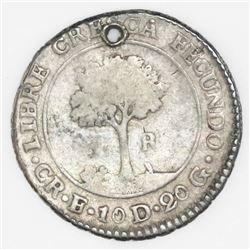 Costa Rica (Central American Republic), 1 real, 1831E.