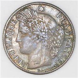 France (Paris mint), 50 centimes, 1871-A, NGC XF 40.