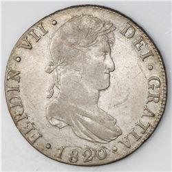 Guatemala, bust 8 reales, Ferdinand VII, 1820M.