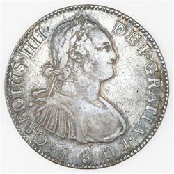 Guatemala, bust 2 reales, Charles IV, 1801M.