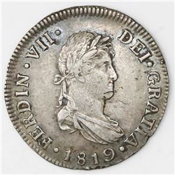 Guatemala, bust 2 reales, Ferdinand VII, 1819M.