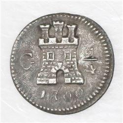 Guatemala, 1/4 real, 1800.