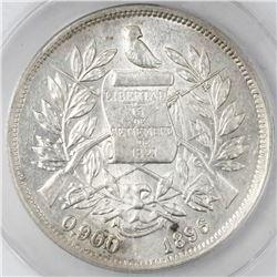 Guatemala, 1 peso, 1896, ANACS AU 55.