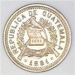 Guatemala, 10 centavos, 1881, NGC AU 55.