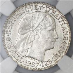 Haiti, 50 centimes, 1887, NGC MS 62, ex-Rudman.