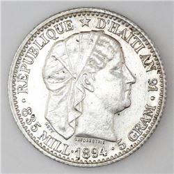 Haiti, 20 centimes, 1894.