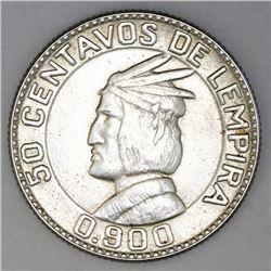 Honduras, 50 centavos, 1932, NGC MS 62.