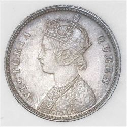 Calcutta, India, 1/4 rupee, 1862-(C ), NGC MS 64.