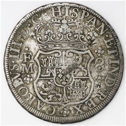 Mexico City, Mexico, pillar 8 reales, Charles III, 1770FM, with chopmarks as from circulation in Asi