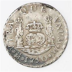 Mexico City, Mexico, pillar 2 reales, Ferdinand VI, 1750M.