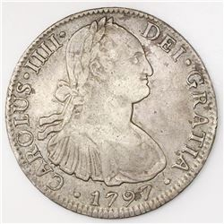 Mexico City, Mexico, bust 8 reales, Charles IV, 1797FM.