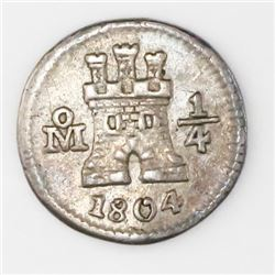 Mexico City, Mexico, 1/4 real, 1804.