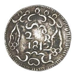 Oaxaca (Morelos / SUD), Mexico, cast silver 2 reales, 1812, ex-Hubbard.