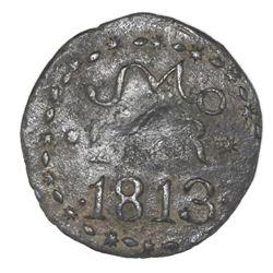Oaxaca (Morelos / SUD / Tierra Caliente), Mexico, copper 2 reales, 1813, NGC VF details / environmen