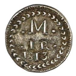 Oaxaca (Morelos / SUD), Mexico, cast silver 1 real, 1813, NGC AU 53, ex-Hubbard.