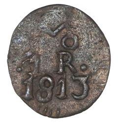 Oaxaca (Morelos / SUD), Mexico, copper 1 real, 1813.