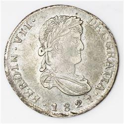 Zacatecas, Mexico, bust 2 reales, Ferdinand VII, 1821RG.