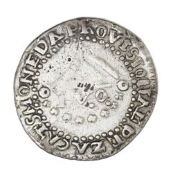 Zacatecas, Mexico, 1 real, Ferdinand VII, 1810-LVO, NGC VF details / harshly cleaned.