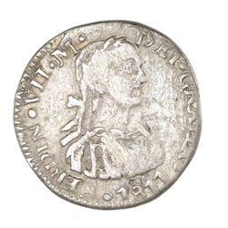 Zacatecas, Mexico, 1/2 real, Ferdinand VII, 1811, NGC VF 25.